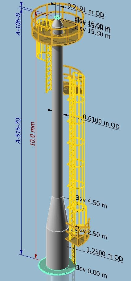 MecaStack Steel Stack Lifting Design