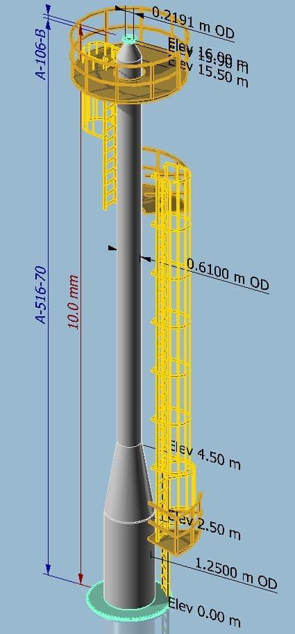MecaStack Steel Stack Lifting Design
