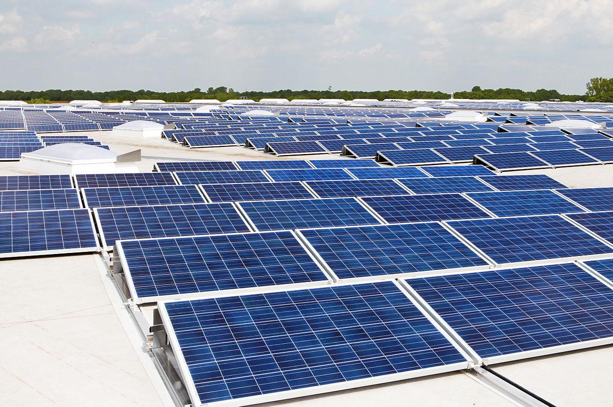 Roof Solar Panel Array